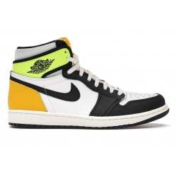 NIKE AIR JORDAN 1 RETRO HIGH OG WHITE BLACK VOLT UNIVERSITY GOLD